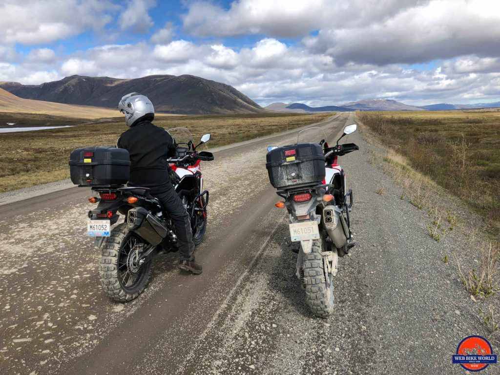 Africa Twins on the Dempster Highway.