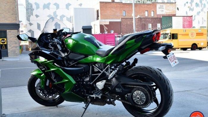 2018 Kawasaki Ninja H2SX SE in downtown Calgary.
