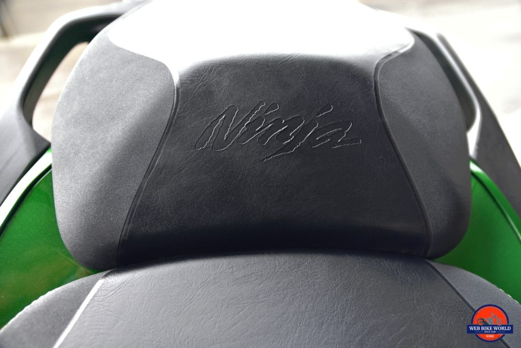 2018 Kawasaki Ninja H2SXSE passenger seat.