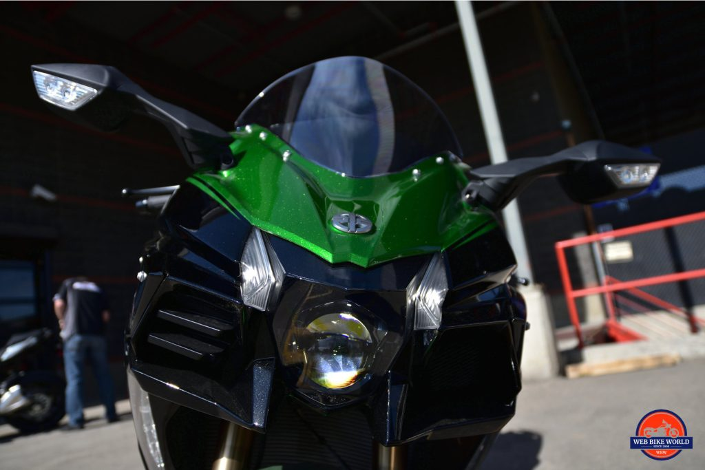 2018 Kawasaki Ninja H2SXSE headlight.