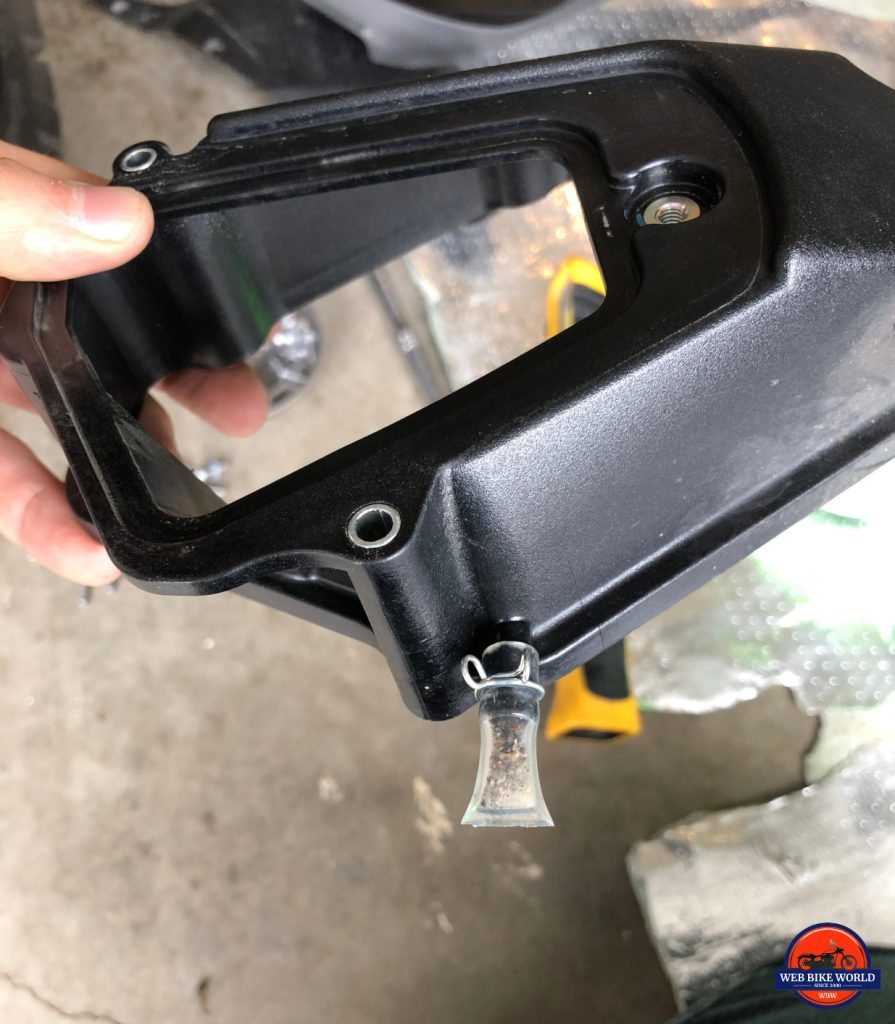 2018 Kawasaki H2SXSE air box debris collector.