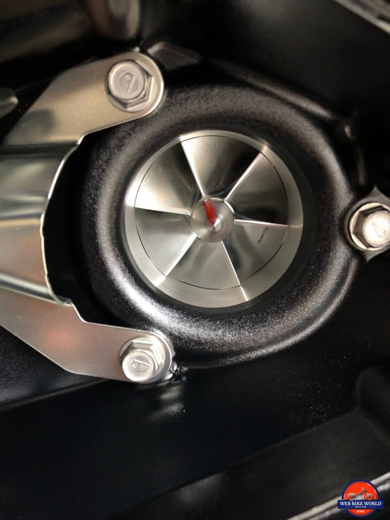 2018 Kawasaki H2SXSE supercharger scroll blades.