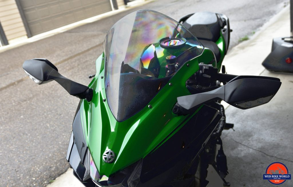 2018 Kawasaki Ninja H2SXSE front fairing and windshield.
