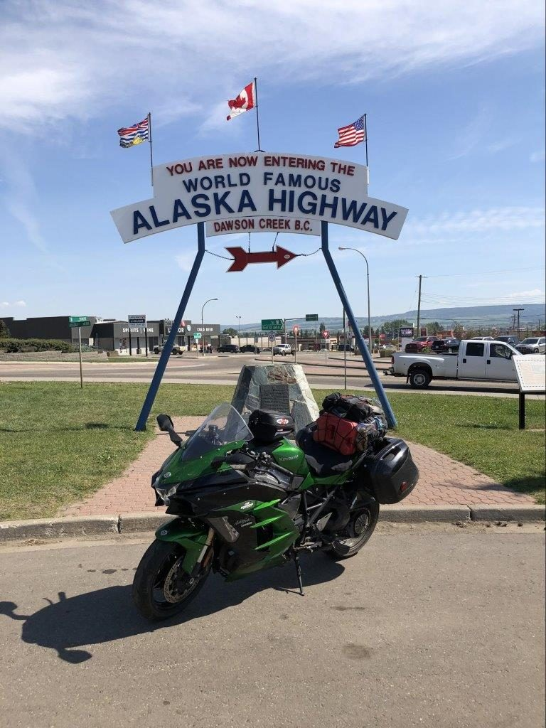 2018 Kawasaki Ninja H2SXSE on the Alaska Highway.