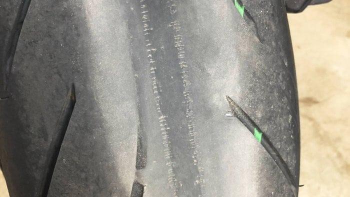 2018 Kawasaki Ninja H2SXSE rear Bridgestone Battlax tire.