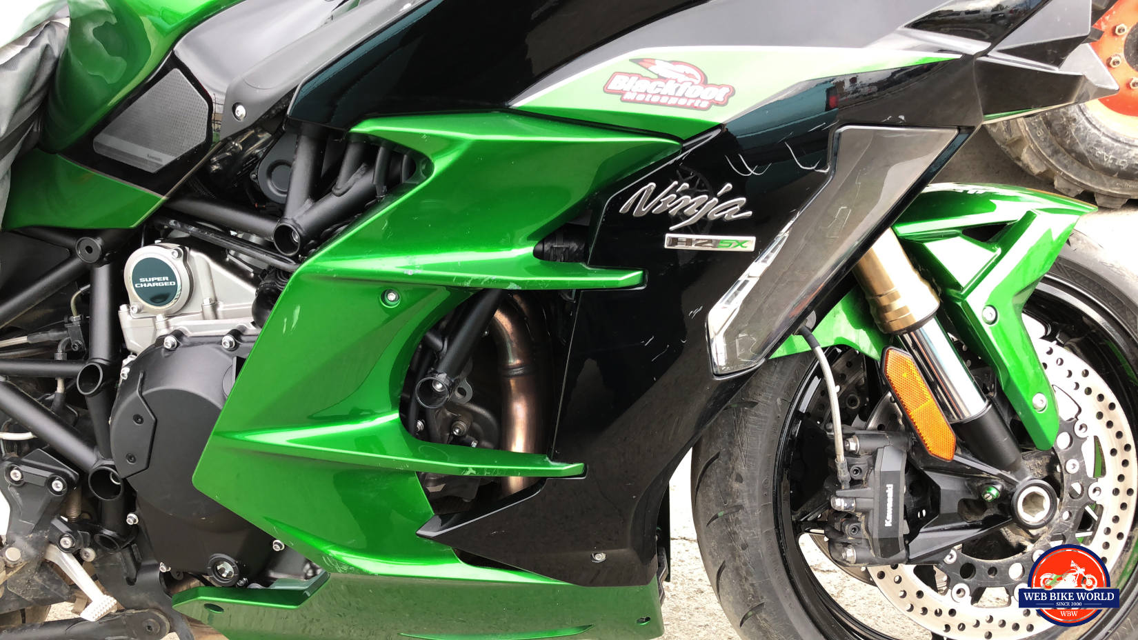2018 Kawasaki Ninja H2SXSE right side fairing.