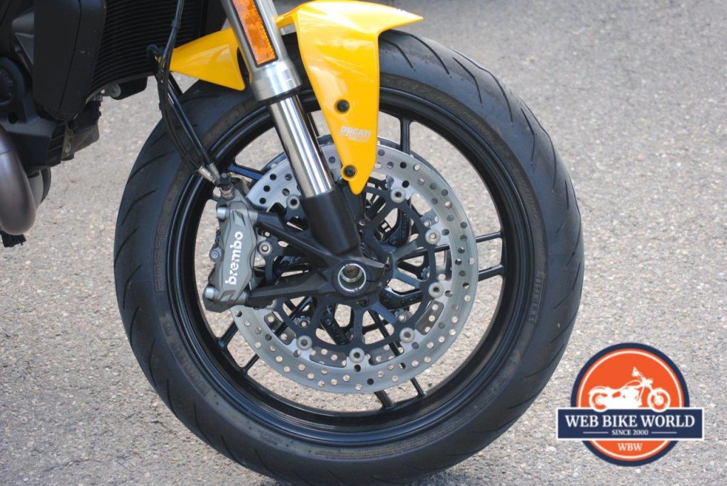 2018 Ducati Monster 821 Motorcycle Tire Closeup