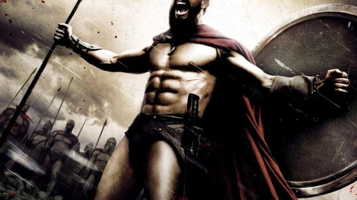 Gerard Butler as King Leonidas from the movie 300.