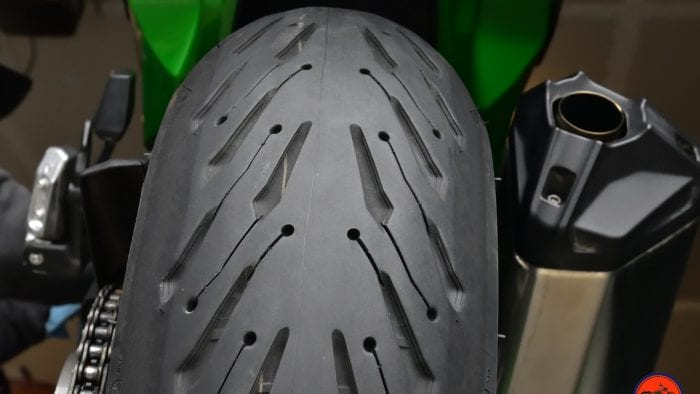 Michelin Road 5 rear tire.