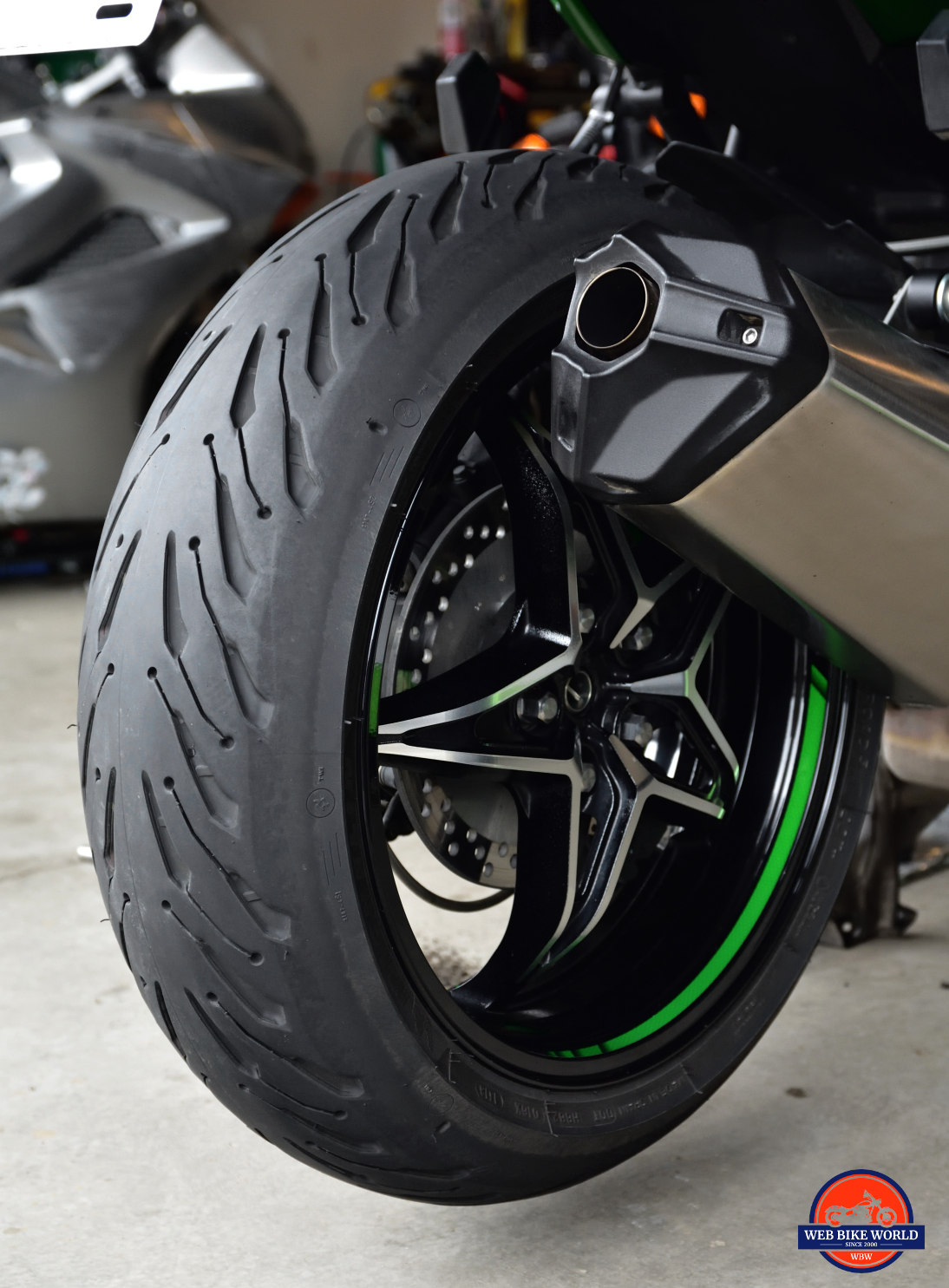 michelin road 5 tires hands