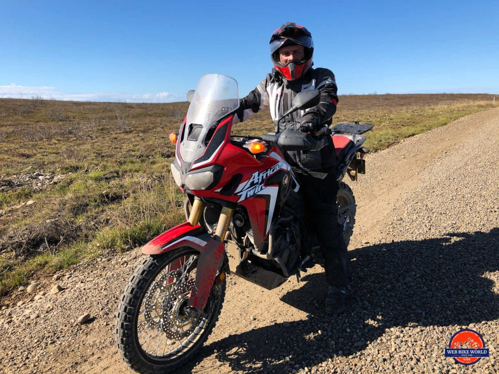 Me and the 2017 Africa Twin on the Dempster Highway.