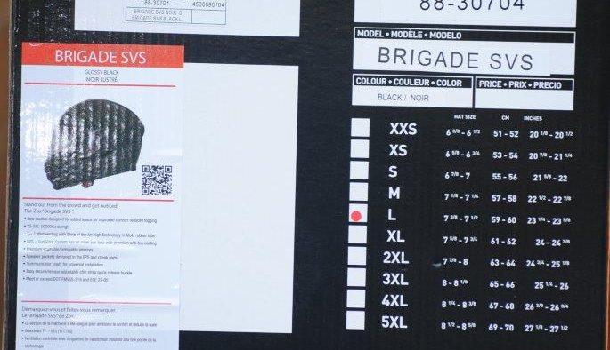 ZOX Brigade SVS Solid Helmet Box Details