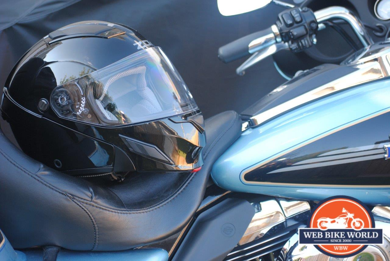ZOX Brigade SVS Solid Helmet featured on Bike