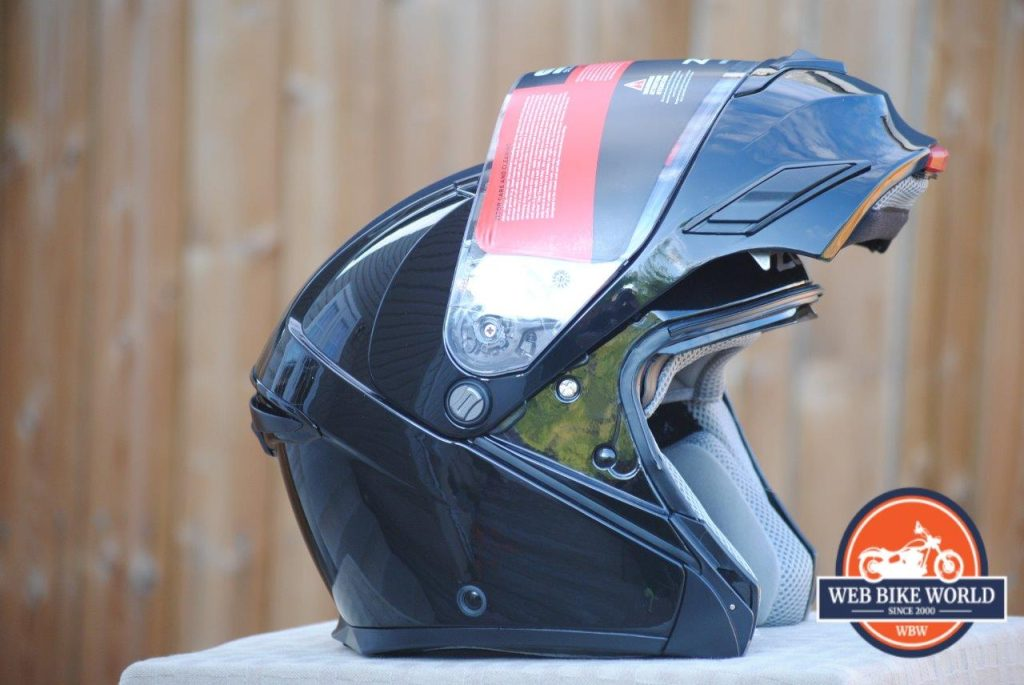 ZOX Brigade SVS Solid Helmet with Visor up