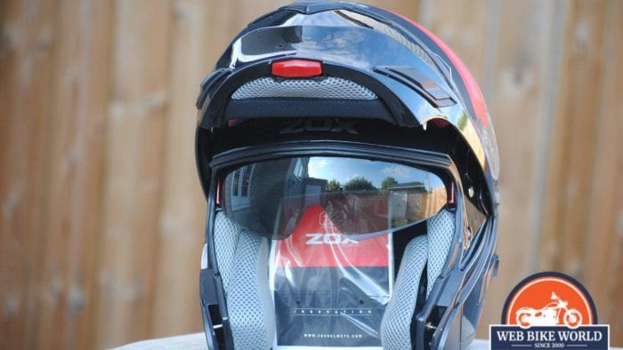 ZOX Brigade SVS Solid Helmet Visor up frontal view