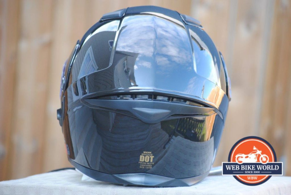 ZOX Brigade SVS Solid Helmet rear view