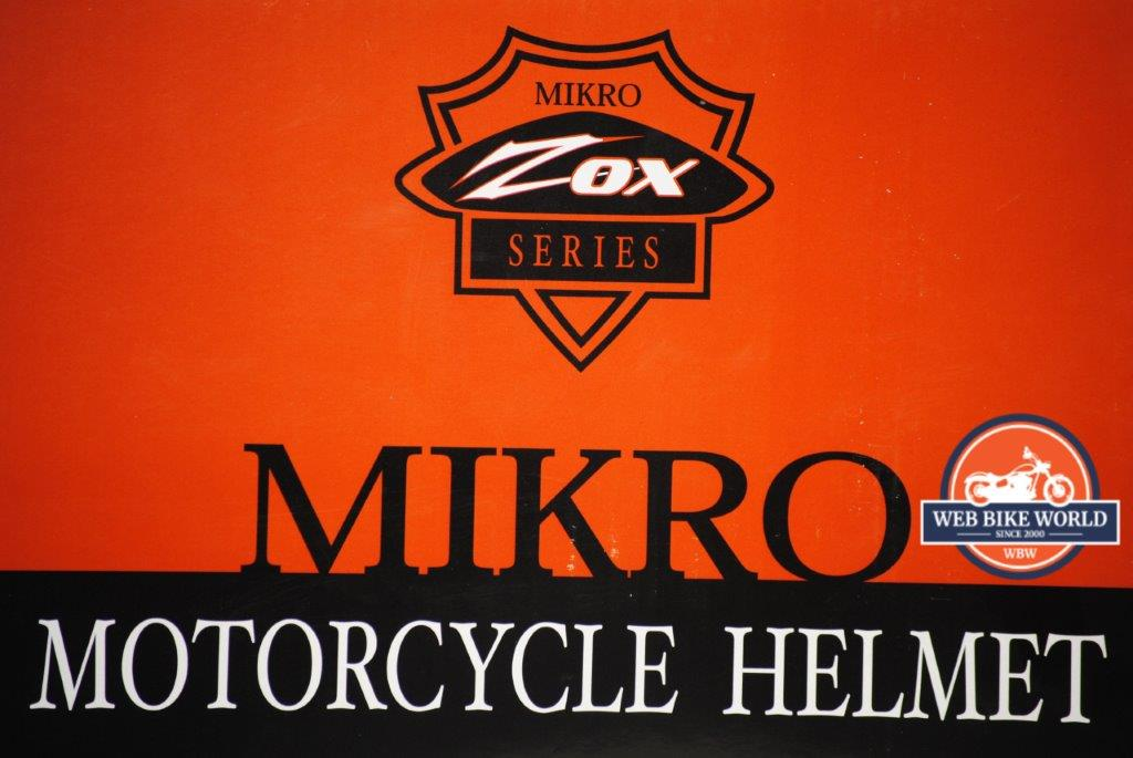 Mikro Motorcycle Helmet Logo