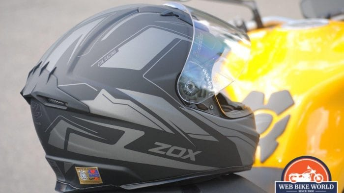 ZOX Primo C Track Helmet Back View
