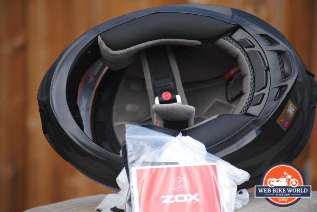 ZOX Primo C Track Helmet Underside View