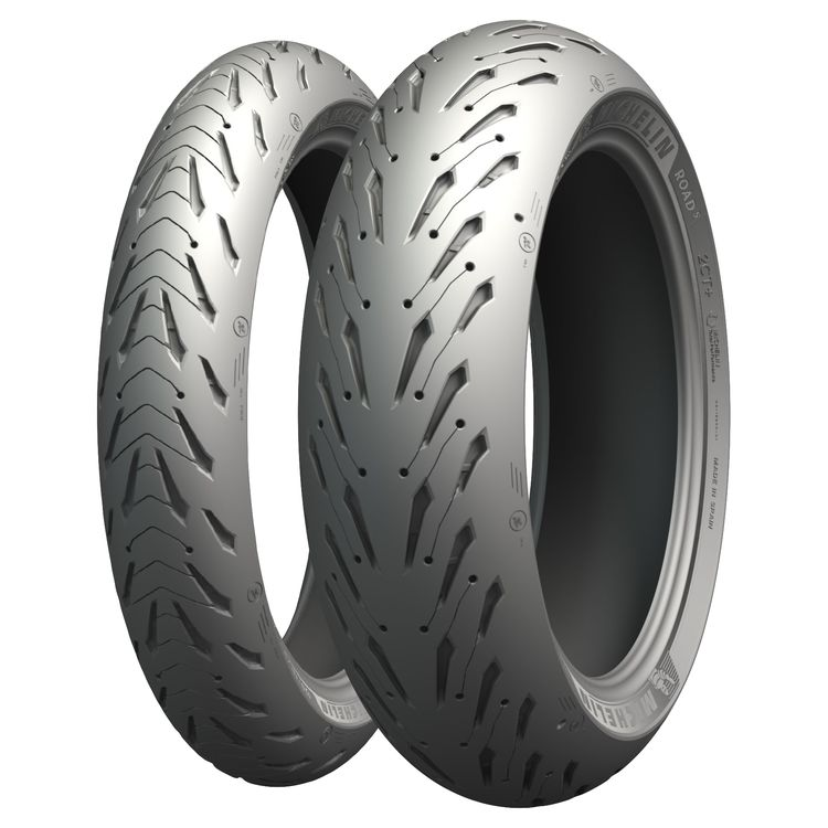 Michelin Road 5 tires.