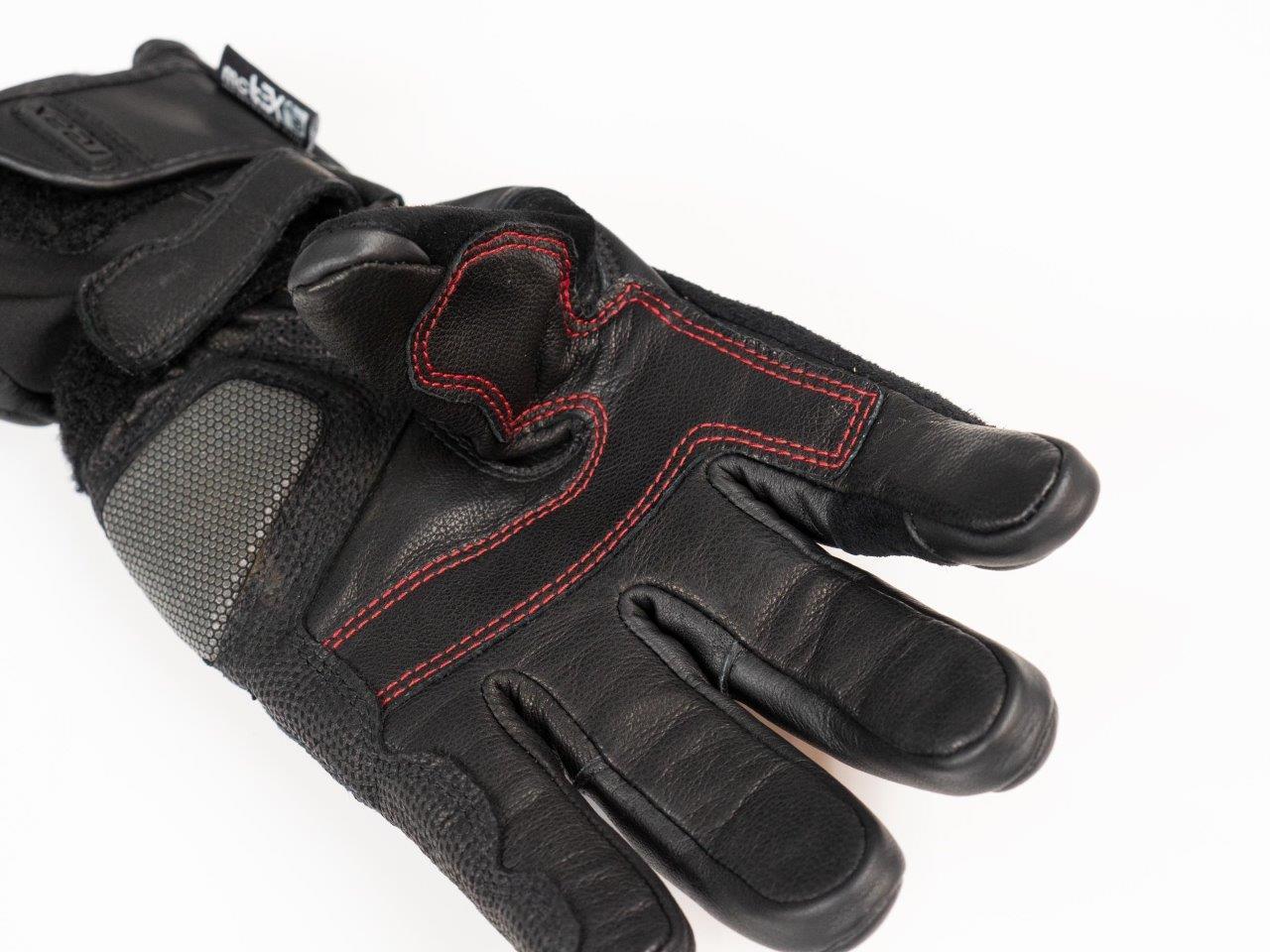 REAX Ridge Waterproof Gloves closeup of fingertips material