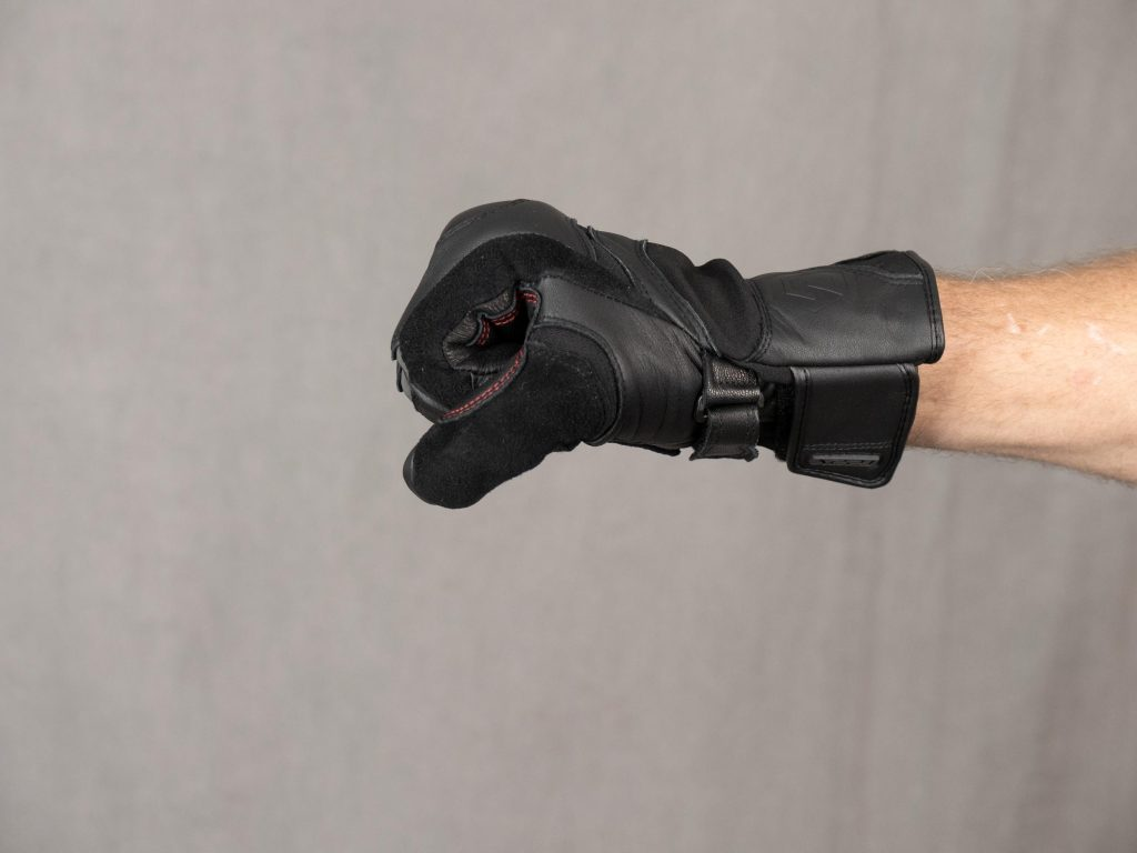 REAX Ridge Waterproof Gloves worn on Model with Hand Closed into Fist