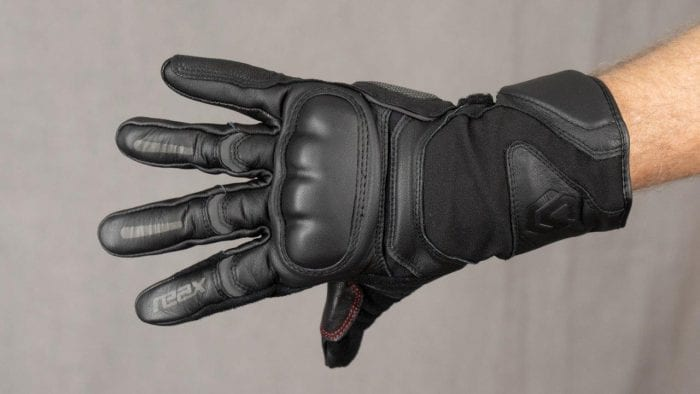 REAX Ridge Waterproof Gloves Worn on Model with Fingers Fully Extended
