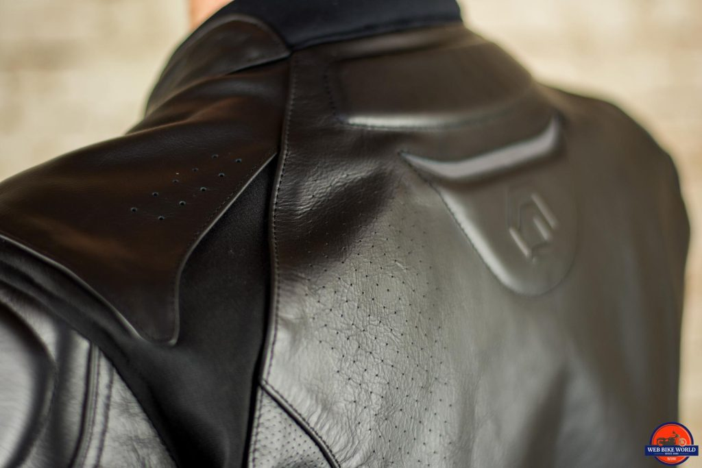 REAX Jackson Riding Jacket View of Shoulder and Back
