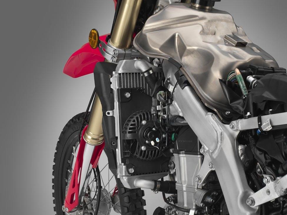 2019 Honda CRF450L titanium gas tank.