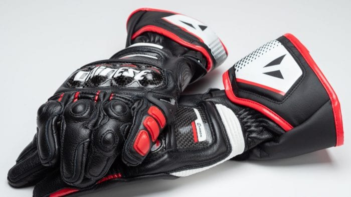 Dainese D1 Druid Long Gloves full view both gloves