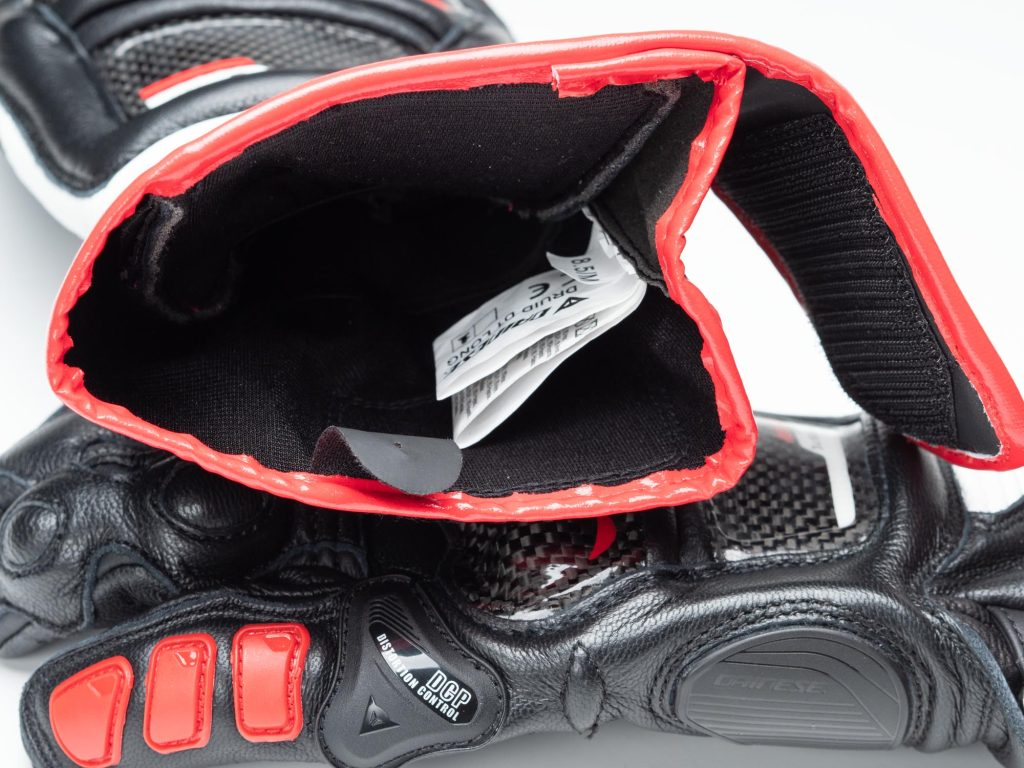 Dainese D1 Druid Long Gloves interior cuff/wrist view