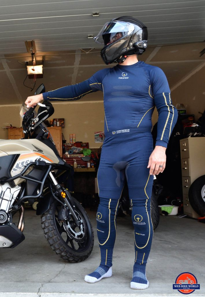 Me wearing the Forcefield Armour Sport Tube and Tech 2 Base Layer.