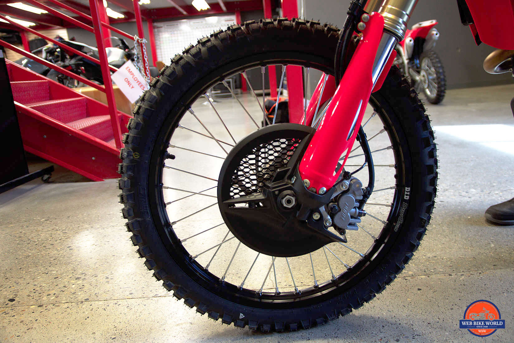 Front wheel on a 2019 Honda CRF450L