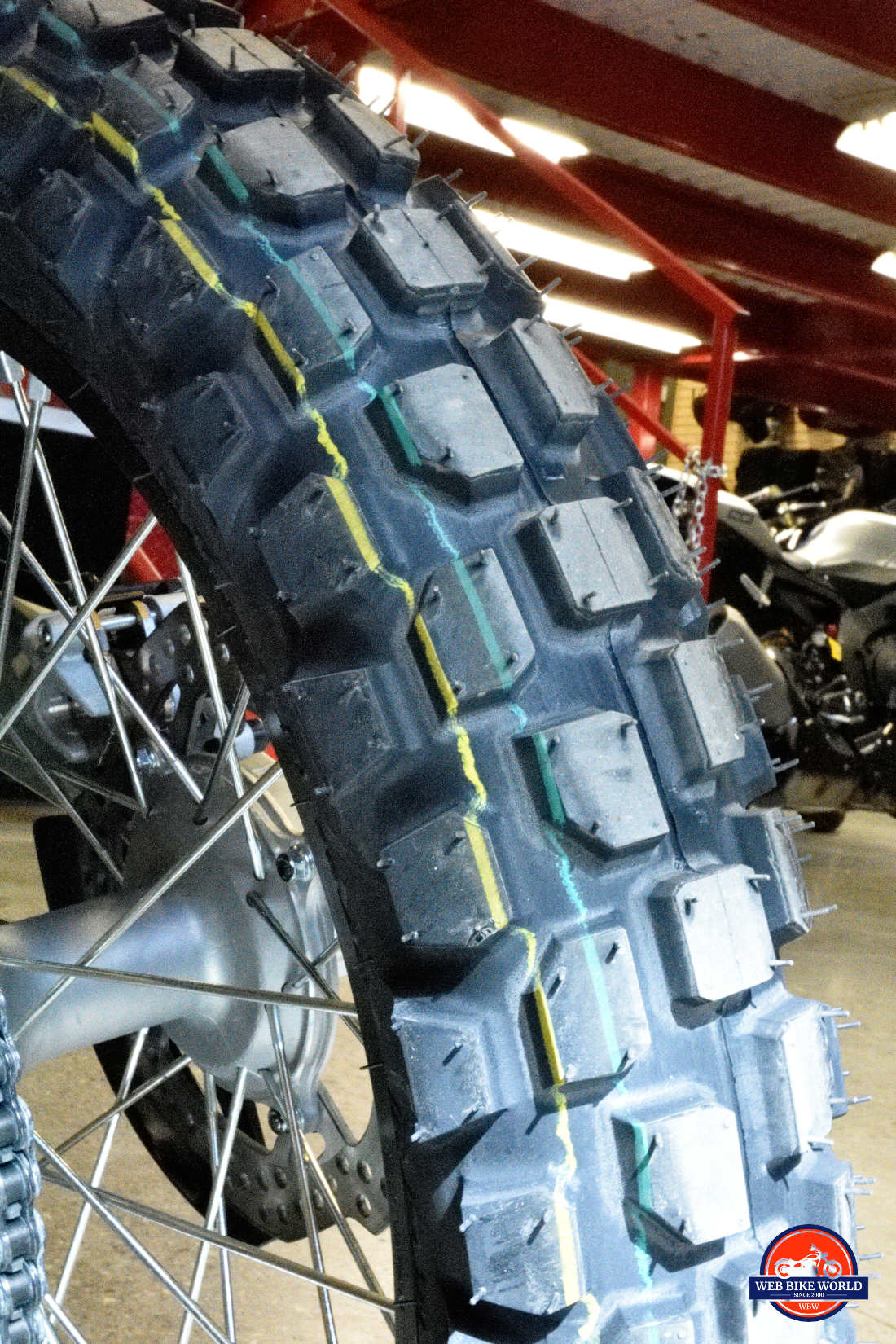 RC GP22 tire on a 2019 Honda CRF450L