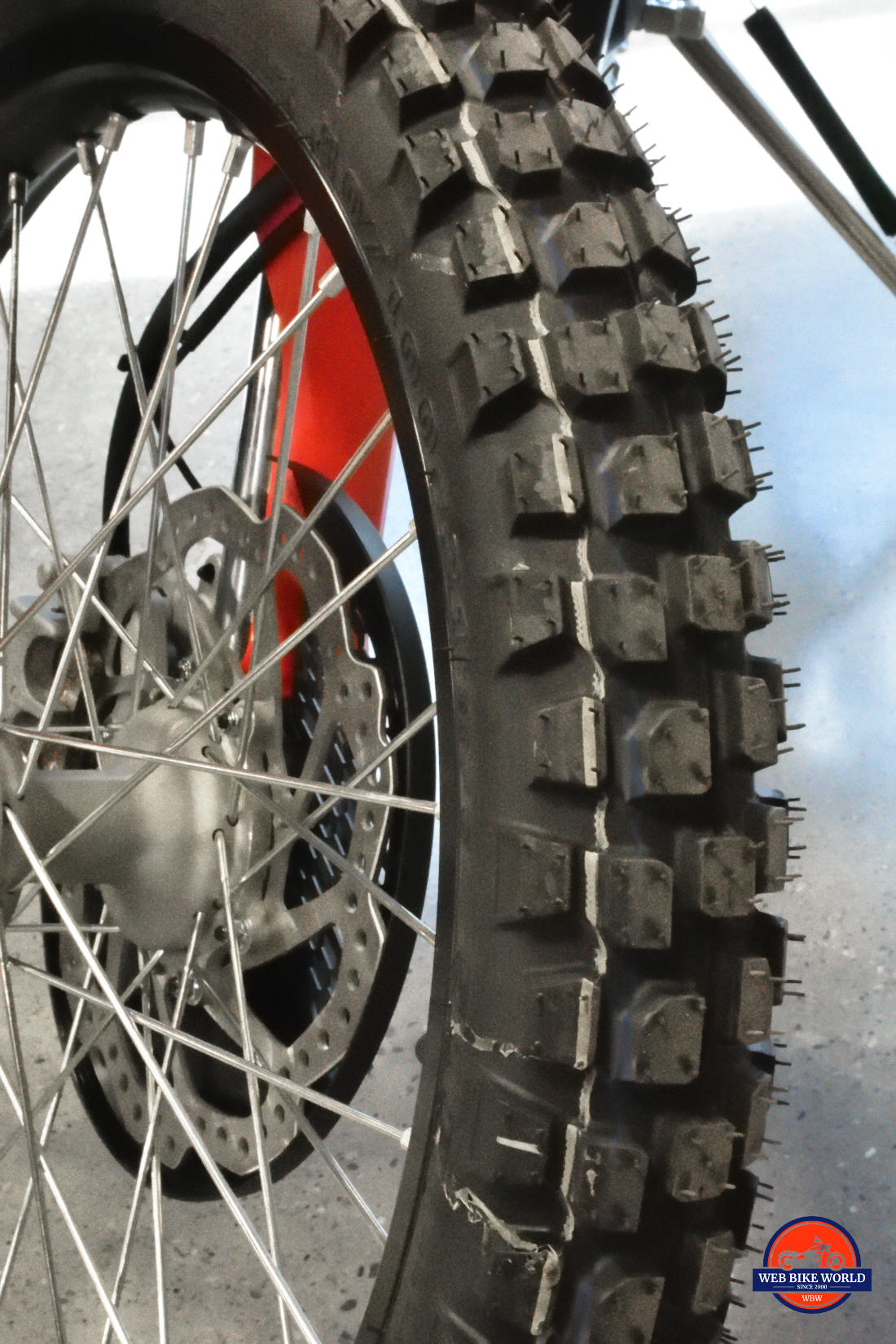 IRC GP21 tire on a 2019 Honda CRF450L