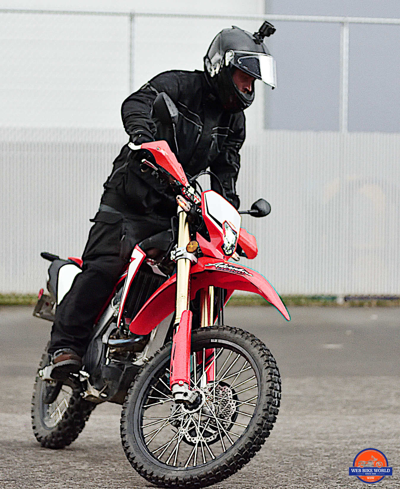 Me on a 2019 Honda CRF450L