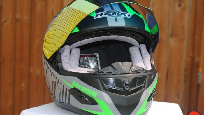 NENKI NK856 Helmet with Visor up