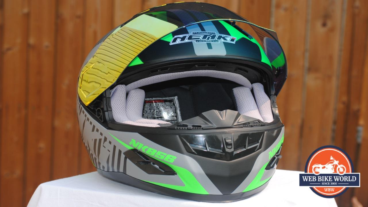 NENKI NK856 Helmet with Visor up