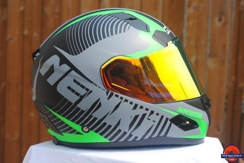 NENKI NK856 Helmet side view with visor down