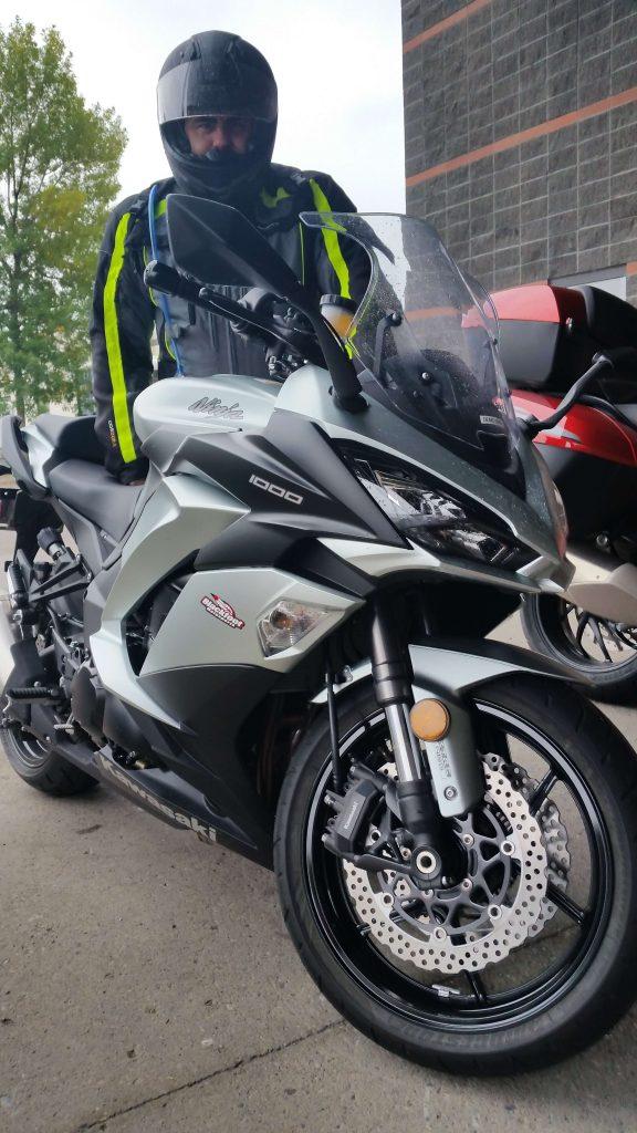 Gerry posing with 2018 Kawasaki Ninja 1000 ABS