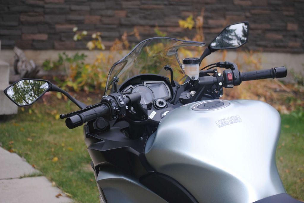 Handlebars on 2018 Kawasaki Ninja 1000 ABS