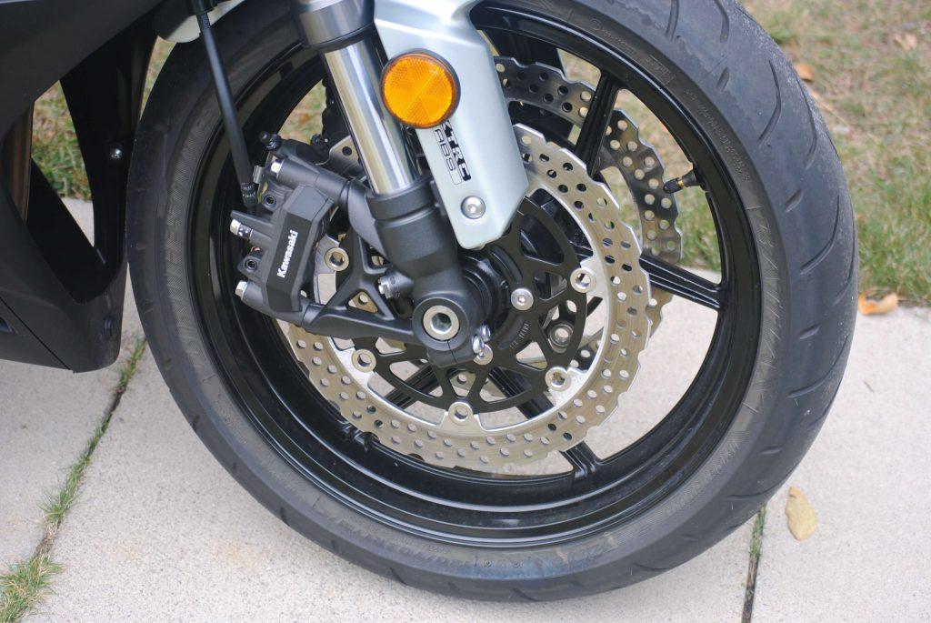 Front tire on 2018 Kawasaki Ninja 1000 ABS