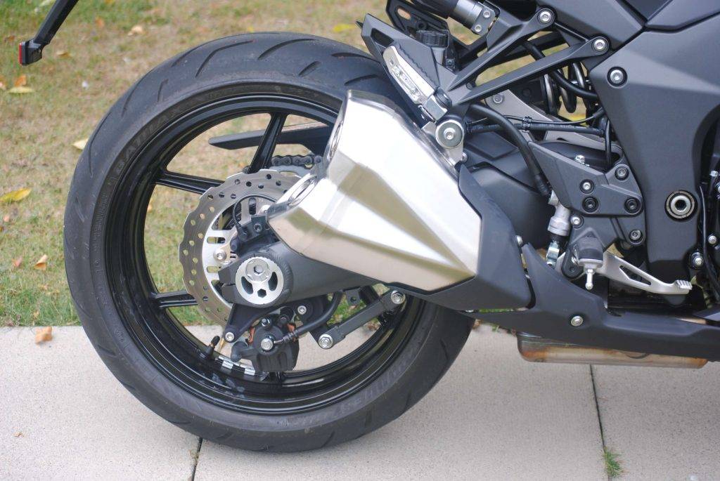 Rear tire on 2018 Kawasaki Ninja 1000 ABS