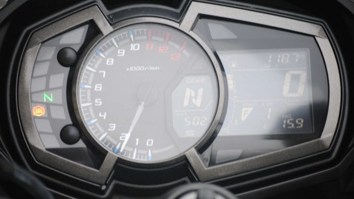 Instrument Display on 2018 Kawasaki Ninja 1000 ABS