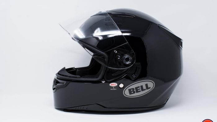Bell RS-2 Helmet side view with visor up