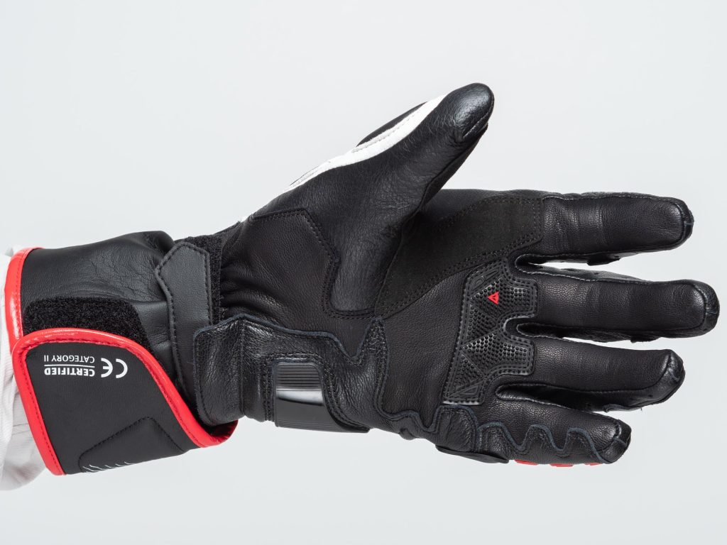 Dainese D1 Druid Long Gloves palm flex view