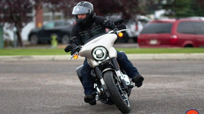 Me riding a 2018 Harley Davidson Sport Glide.