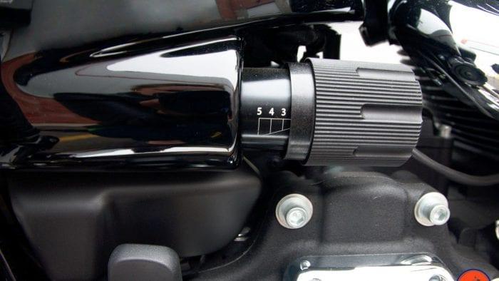 Preload adjuster handle on a Sport Glide.
