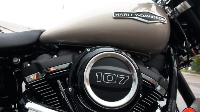 2018 Harley Sport GLide air cleaner housing and gas tank.