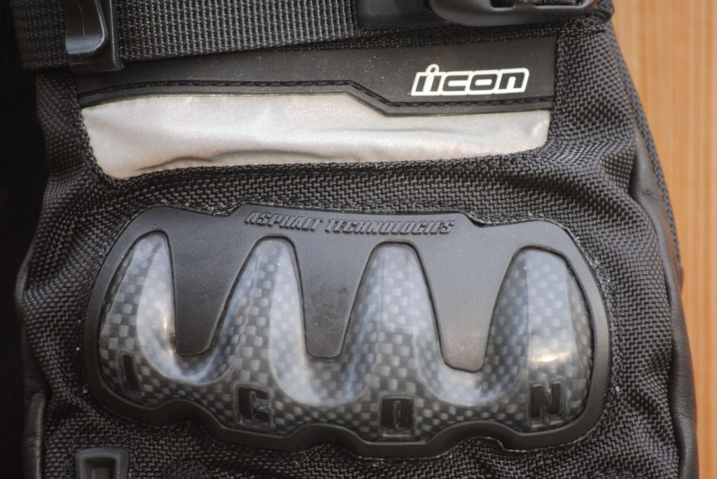 ICON Patrol Waterproof Gloves injected thermoplastic knuckles